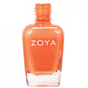 Zoya orange nail polish