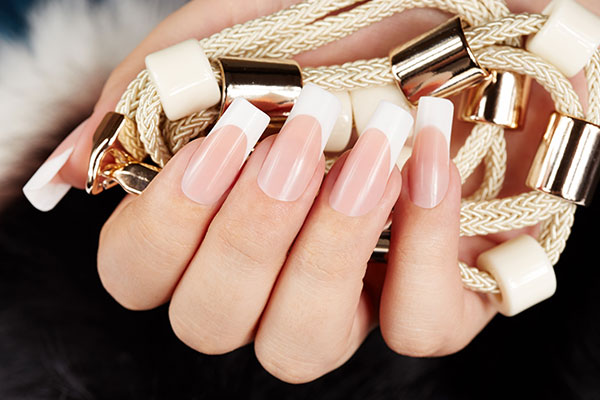 French acrylic nails